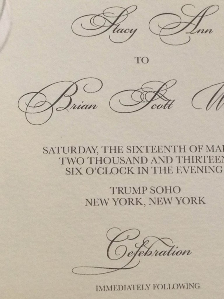 Stainless Steel Wedding Invitation By Platypus Papers With Hbdesign