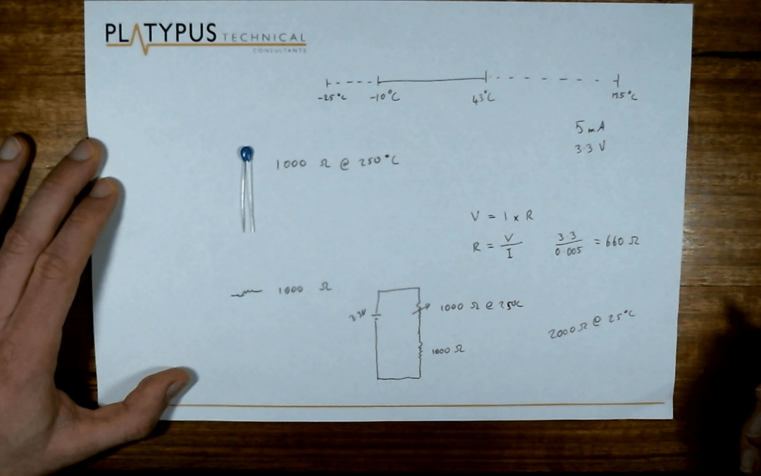 Circuit design for a thermistor voltage divider
