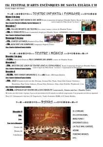 11è Festival d'Arts Escèniques de Sta Eulalia L'H 2013
