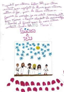 Dibuix fet pel públic escolar asistent a l'espectacle amb comentaris
