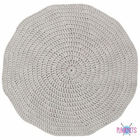 Трикотажный вязаный ковер Серый Туман круг