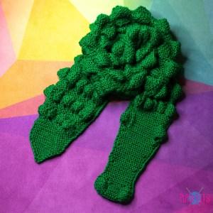 Зелёный зверошарф Крокодил
