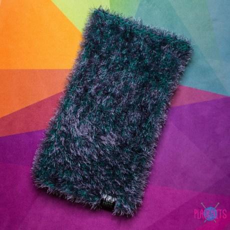 Дредошапка 38 см / серо-зелёная вязаная шапка для дред