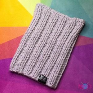 Дредошапка 28 см / серая вязаная шапка / повязка для дред