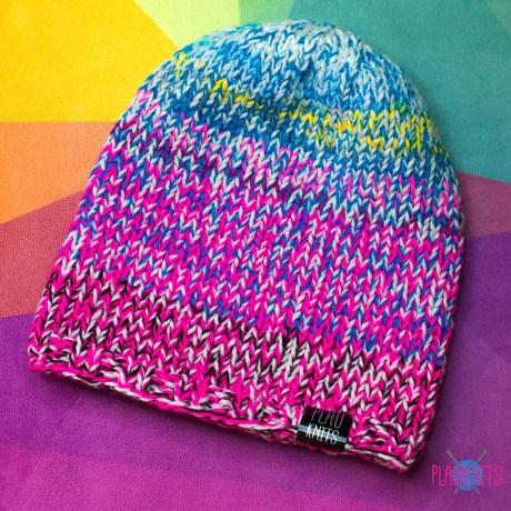 Цветастая свободная вязаная шапка Мешок