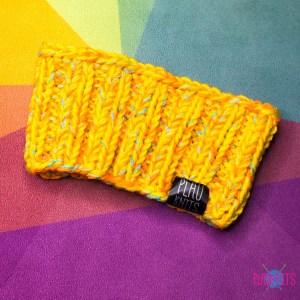 Оранжевая вязаная шапка / повязка для дред 10 см