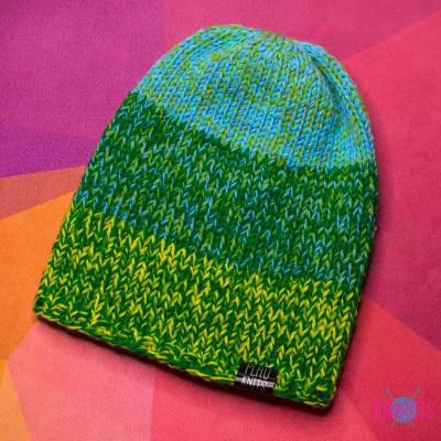 Зелёно-голубая шапка для дред мешок