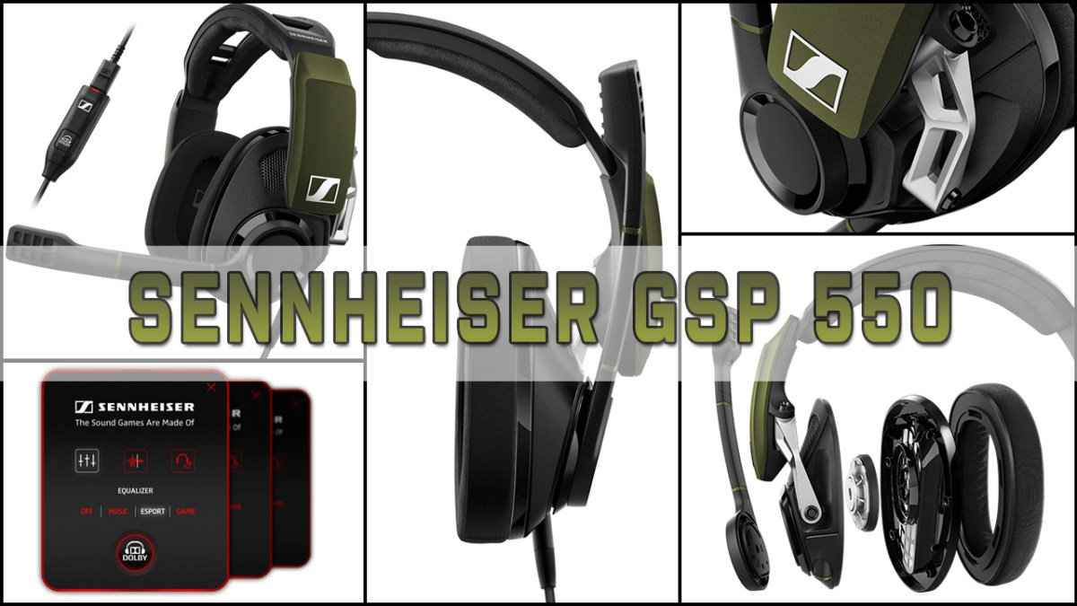 [ TEST ] Sennheiser GSP 550 Gaming Headset - Surround-Sound vom Feinsten?