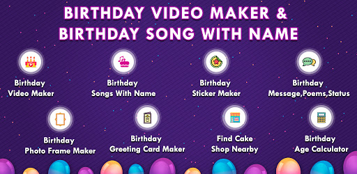Birthday Video Maker App Birthday Song With Name Apps On Google Play