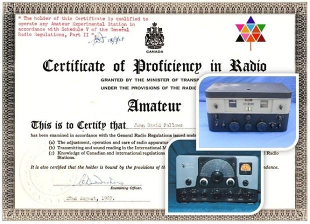 my first ham radio station and license