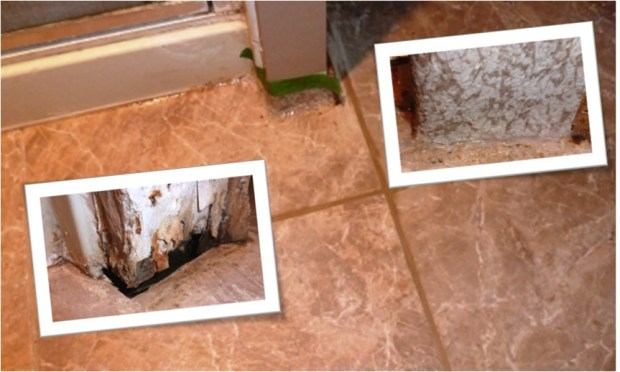 bathroom tile grout patching