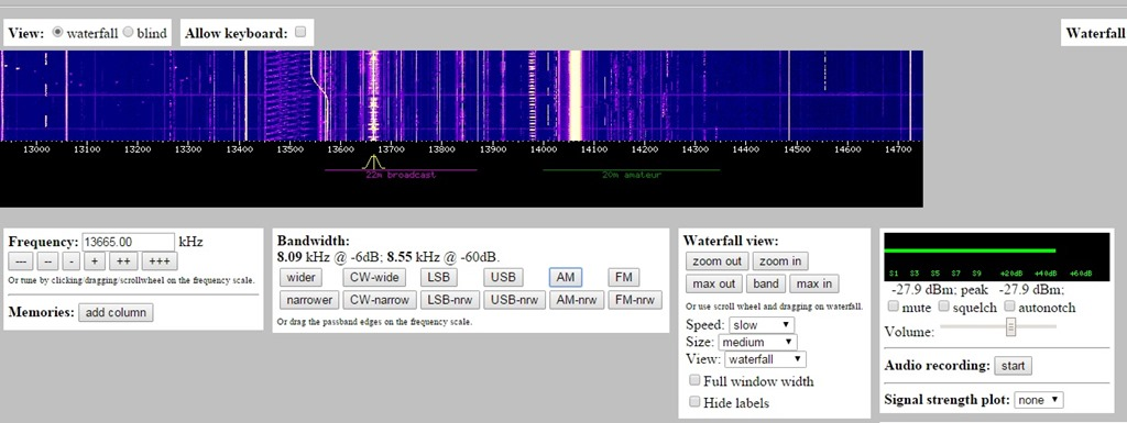 Listen to radio with WEBSDR - Making It Up