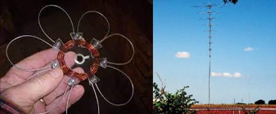 flying saucer vertical antenna
