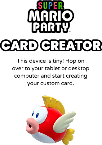 mario party greeting card maker online