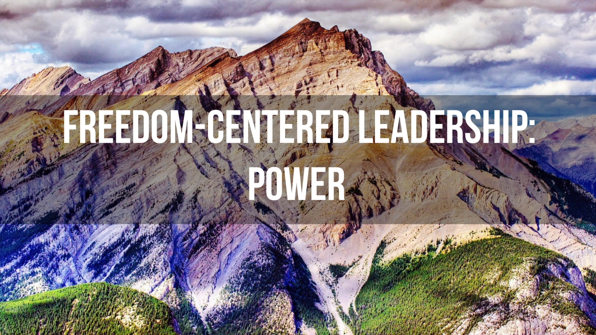 Freedom Centered Leader Course