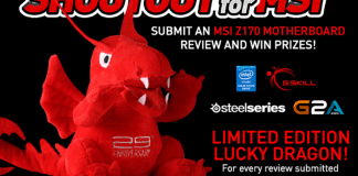 Get A Dragon With The 'SHOUT OUT for MSI' Z170 Promotion 1