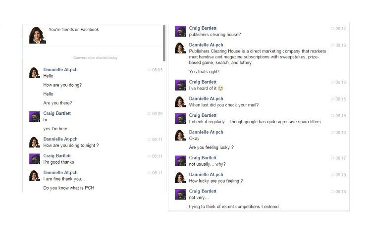 Fake PCH Facebook Friend: Meet the new scam, same as the old scam