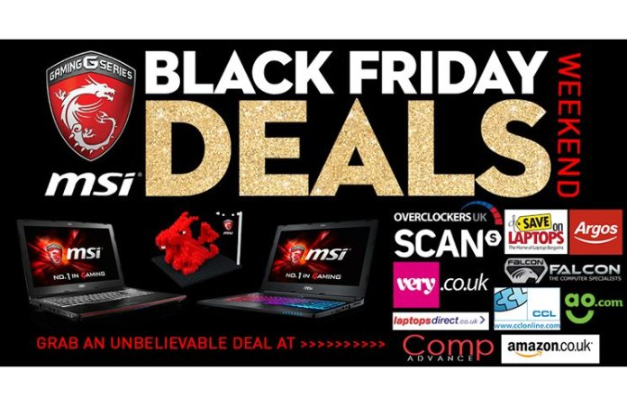 MSI Joins in the Black Friday Fun