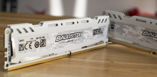 Ballistix Sport LT 2666MHz DDR4 16GB Close Up