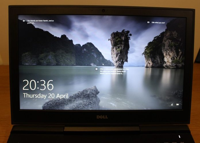 dell inspiron 15 7000 screen on