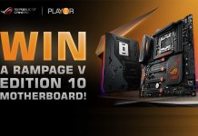 Win a ROG Rampage V Edition 10 Motherboard