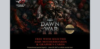 ASUS Dawn of War Motherboard Promo