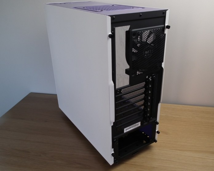 NZXT S340 White Back