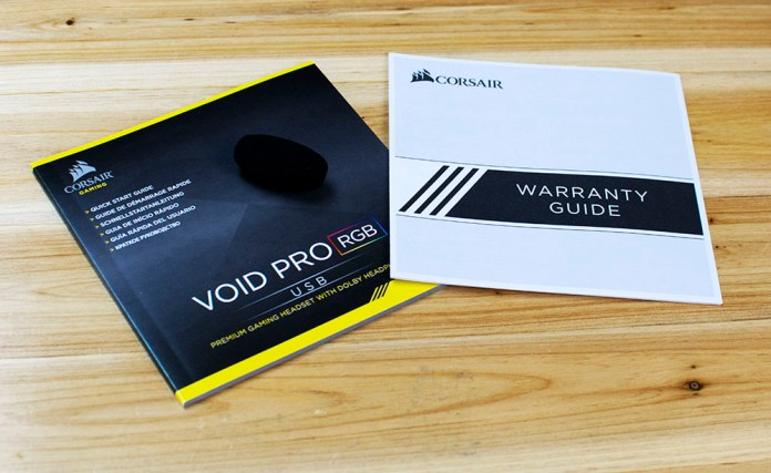 Corsair VOID PRO USB RGB Gaming Headset Manuals