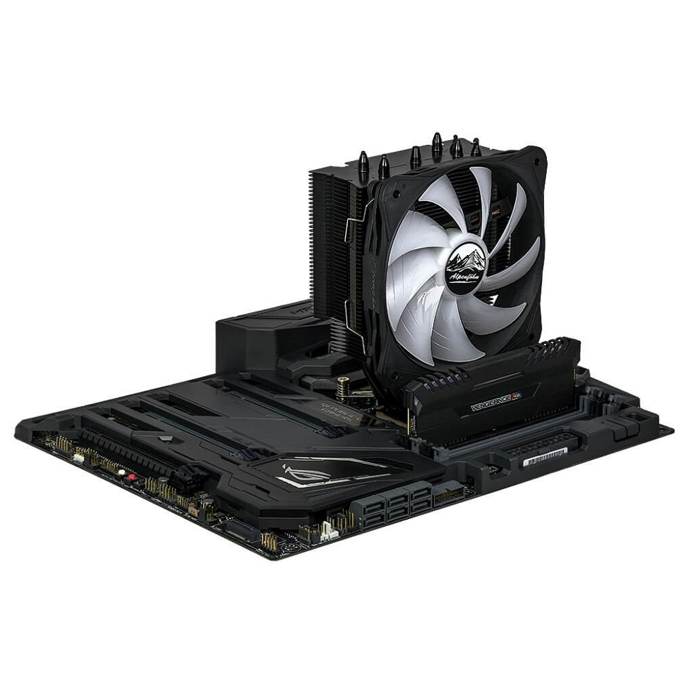 Ben Nevis Advanced Black CPU Cooler With Added RGB   Play3r
