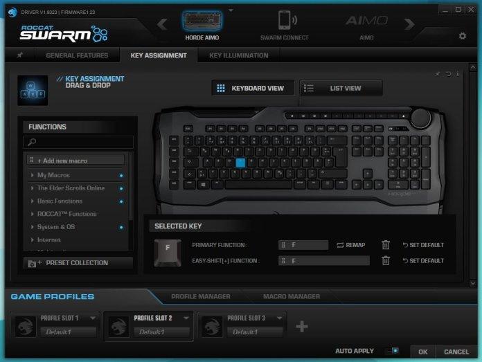 ROCCAT SWARM Key Assignment
