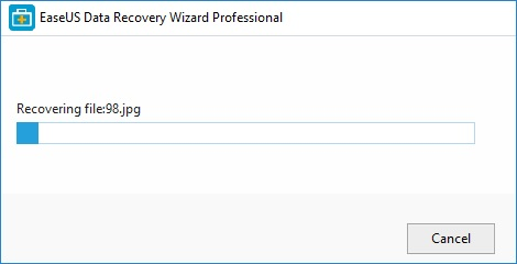 easus file recovery process