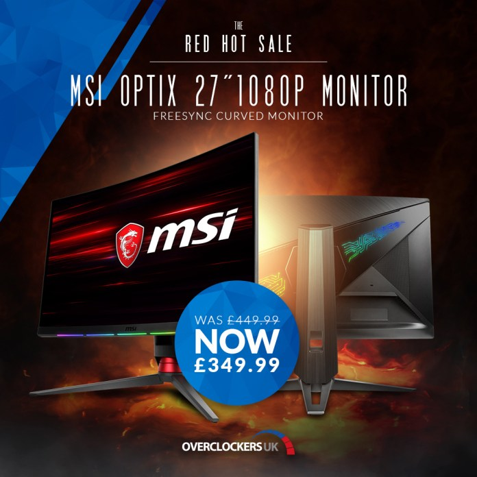 OCUK MSI Optix MPG27C 27 Curved