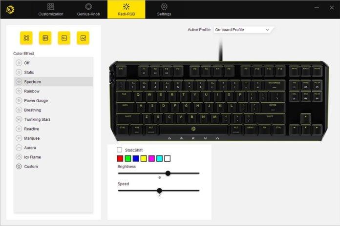 drevo power console keyboard radi rgb