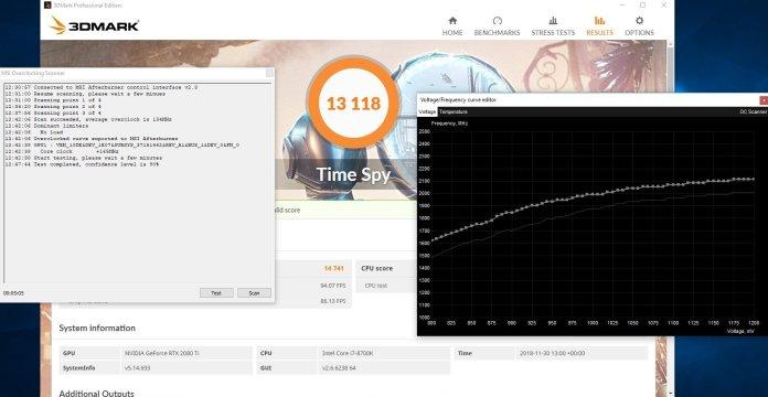 MSI RTX 2080 Gaming X Trio Overclocking OC Scanner