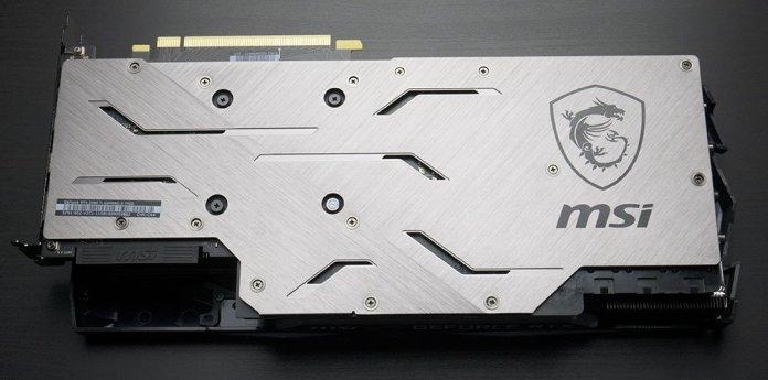 MSI RTX 2080 Ti Gaming X Trio Graphics Card Back plate