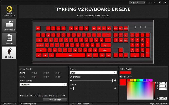 tyrfing v2 power console RGB