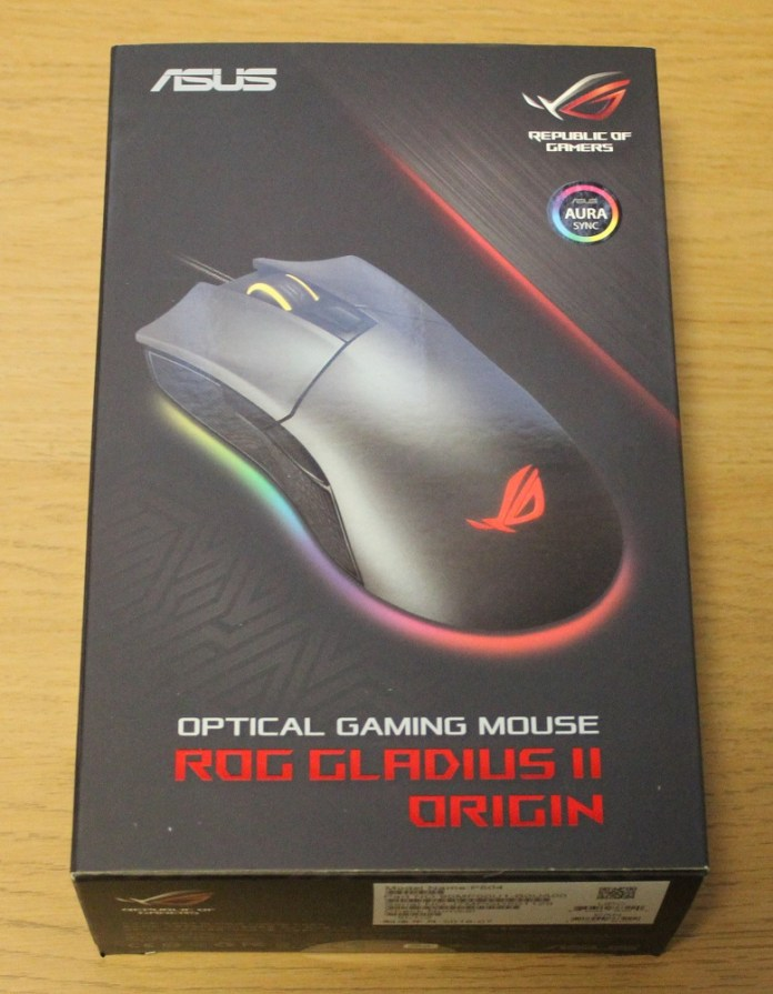 asus rog gladius II origin box top