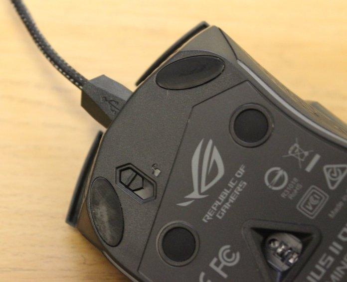 asus rog gladius II origin mouse cable locking