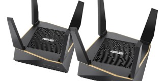 ASUS AiMeshAX6100 WiFi hub pair