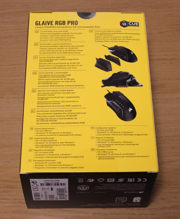 Corsair Glaive RGB Pro Box Back