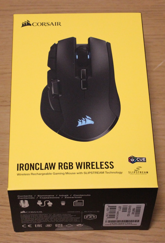 Corsair Ironclaw RGB Wireless Box Top