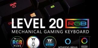 Thermaltake Gaming Level 20 RGB Razer Green Gaming Keyboard Header