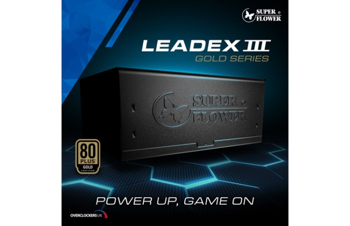Super Flower Leadex III Gold Series PSU Pre-order at Overclockers UK