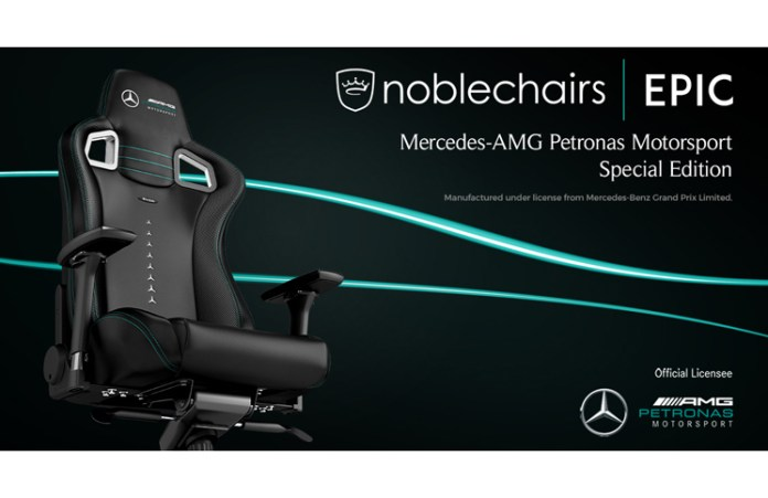 noblechairs Announce EPIC Mercedes-AMG Petronas Motorsport Edition Chair