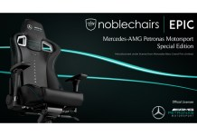 noblechairs EPIC Mercedes-AMG Petronas Motorsport Edition Feature