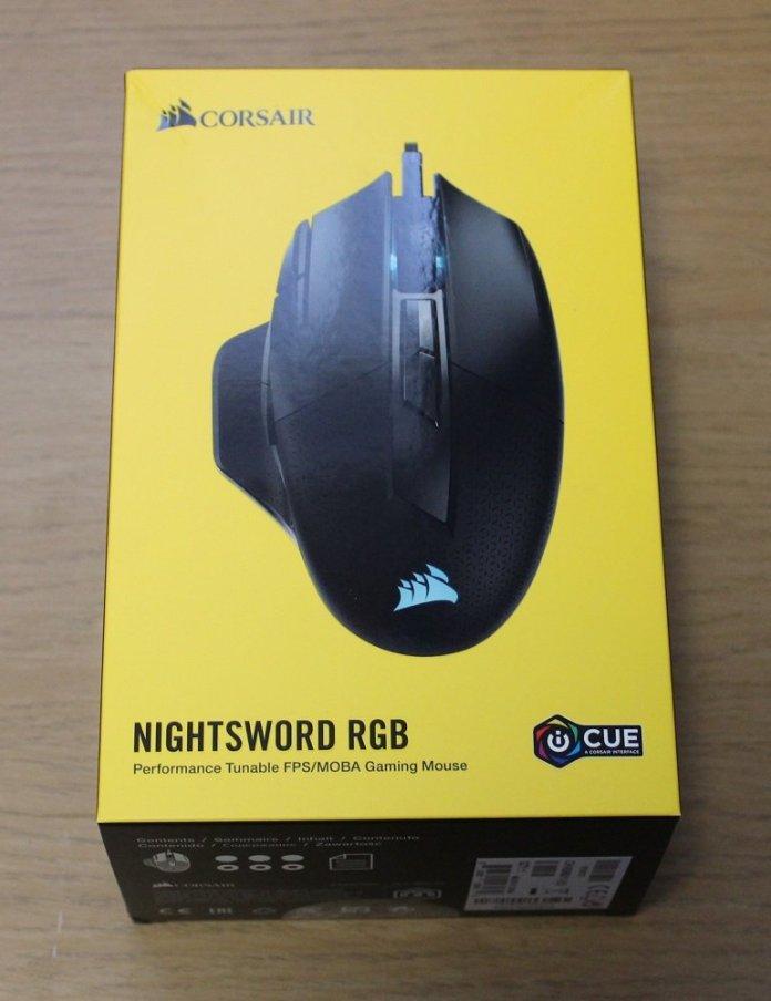 corsair nightsword rgb box top