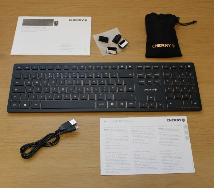 Cherry DW9000 Slim box contents