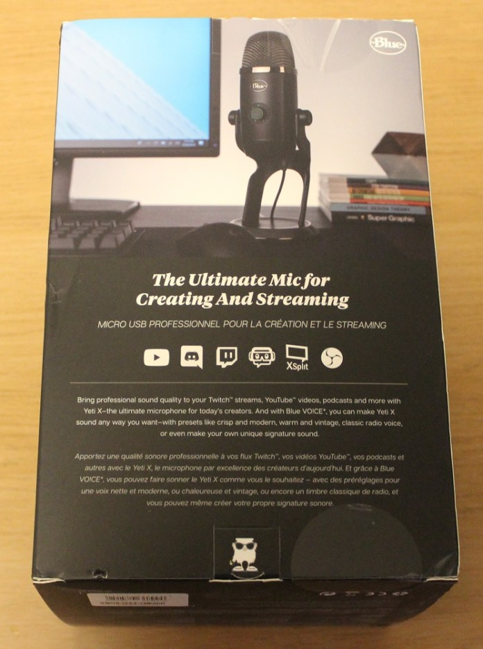 Blue Yeti X Box back
