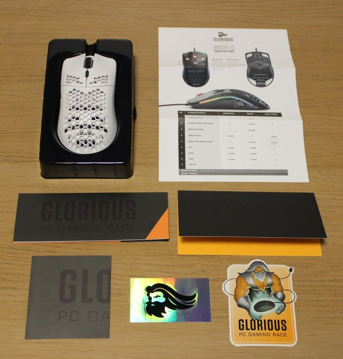 glorious pc gaming mouse model 0 box contents