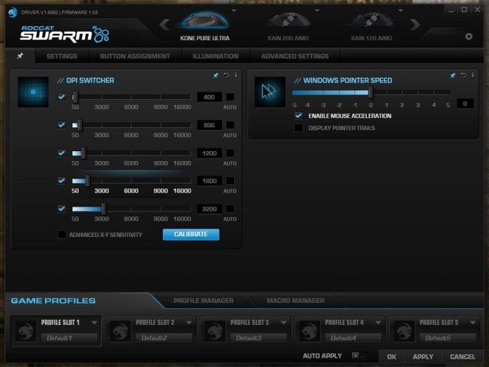Roccat Kone Pure Ultra Swarm main page